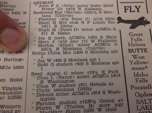 Proof of Redus' presence in Butte MT