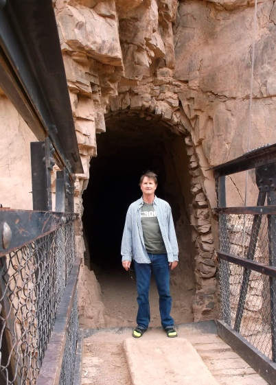 Through this tunnel is the trail to the top - South Kaibab Trail.