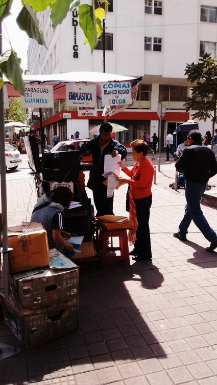 PRINTING AND PHOTOCOPYNG ON THE STREET. Entrepreneurs are everywhere.