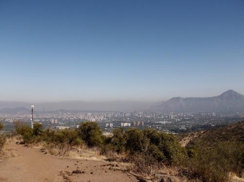 It's a WOW view of Santiago.