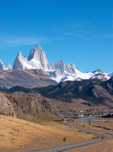 View of El Chalten from Mirador Condores