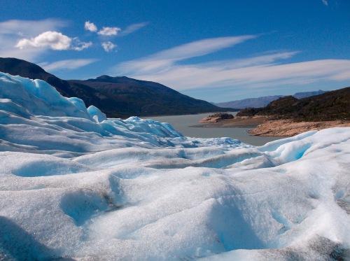 View of Rico branch of Lago Argentina from Perito Moreno glacier.